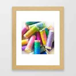 Colorful Sewing Framed Art Print