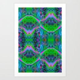 Techno Electric II (Ultraviolet) Art Print