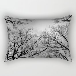 Scary black and white trees Rectangular Pillow