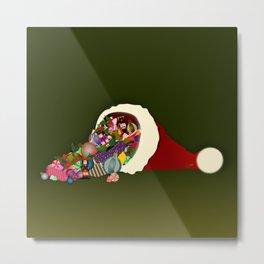 Santa's Cornucopia  Metal Print