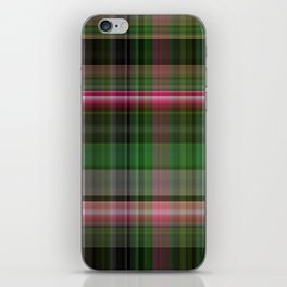 Pink Roses in Anzures 5  Plaid 1 iPhone Skin