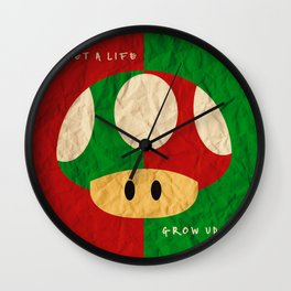 Gamer life lessons Wall Clock