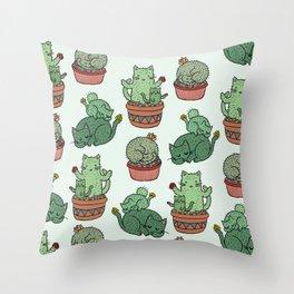 Cacti Cat pattern Throw Pillow