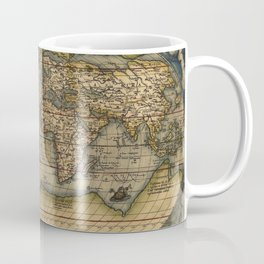 Antique Map of North and South America Coffee Mug