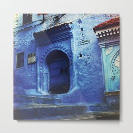 PH1 - Blue City, Traditional Buildings Chefchaoun Morocco. Metal Print