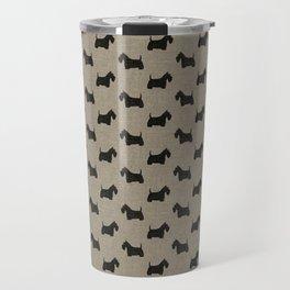 Scottish Terrier Scottie Silhouette Travel Mug