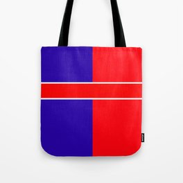 Team colors 6...red,blue Tote Bag