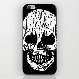 Woodcut Skull iPhone Skin