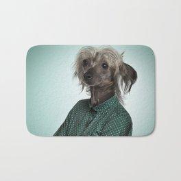 Chinese hairless crested dog Bath Mat