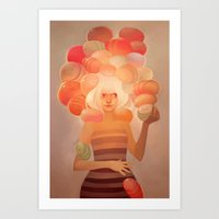 loish Art Prints featuring Glow by loish