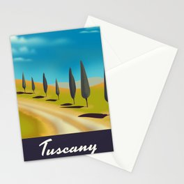 Tuscany Italy travel poster Stationery Cards