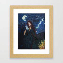 The Green Witch Framed Art Print