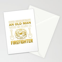 Old Man - A Firefighter Stationery Cards