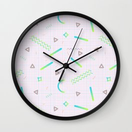 Memphis Pattern #1 Wall Clock