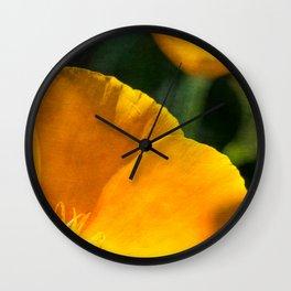 Orange Abstract III Wall Clock