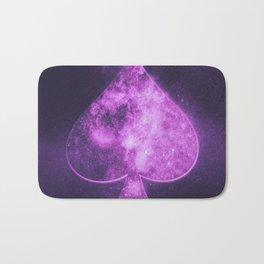 Spade symbol. Playing card. Abstract night sky background Bath Mat