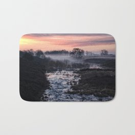 Foggy Sunrise At Chasewater Bath Mat