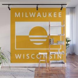 Milwaukee Wisconsin - Gold - People's Flag of Milwaukee Wall Mural