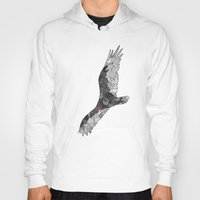 turkey Hoodies featuring Turkey Vulture by K J Guindon