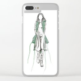 Y-3 - Sewn On Fashion Illustration Clear iPhone Case