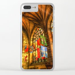 Evening Sun Cathedral Clear iPhone Case