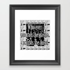 Media controls mind Framed Art Print