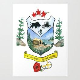 Oxford Crest Art Print