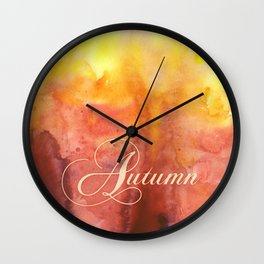 Watercolor Autumn Wall Clock