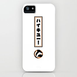 Haikyuu!! Exclamation Point (White) iPhone Case