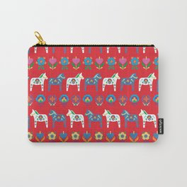 Dala Folk Red Carry-All Pouch