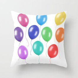 Party Balloons Throw Pillow