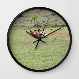 Rolling Horse Wall Clock