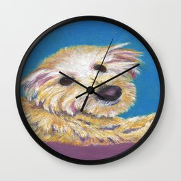 Chance, the Therapy Dog Wall Clock