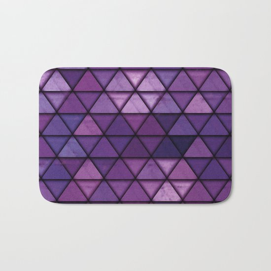 Abstract Geometric Background #14 Bath Mat