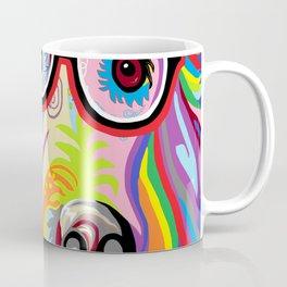 Smart Retriever Hipster with Glasses Coffee Mug