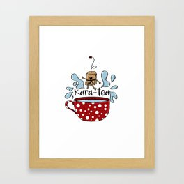 Karate Kara Tea Teabag Present Gift Cup Framed Art Print