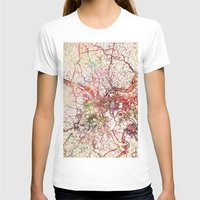 pittsburgh T-shirts featuring Pittsburgh by MapMapMaps.Watercolors