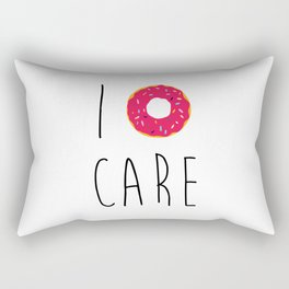 I Donut Care Funny Quote Rectangular Pillow