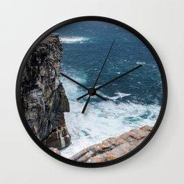 Cliffs off Dún Aonghasa Wall Clock