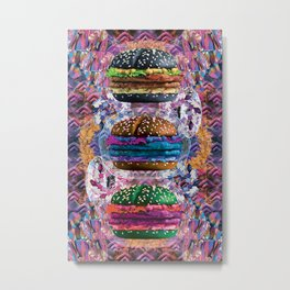 black burger doom zone Metal Print
