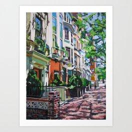 Westside Townhouses, Upper West Side Art Print