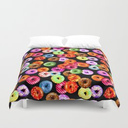 Multicolored Yummy Donuts Duvet Cover