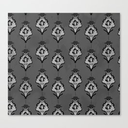 XOF Skull Face damask Canvas Print