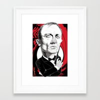 james bond Framed Art Prints featuring James Bond by Studio Drawgood