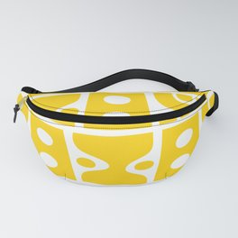 Mid Century Modern Abstract Composition 614 Yellow Fanny Pack