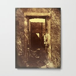 Ruined House Photography Metal Print