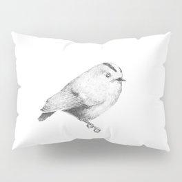 Goldcrest (Regulus regulus) - grey Pillow Sham