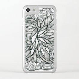 SwankyDoodleSandy A-mazing Garden Clear iPhone Case