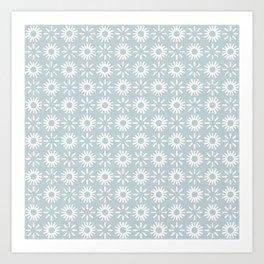 Poppy Indigo Blue Art Print