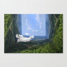 View reflection in a Landscape Photo • IDRIJA, Slovenia...maybe Canvas Print